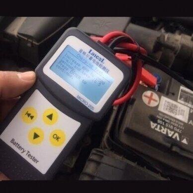 Akumuliatoriaus testeris skaitmeninis 12V 4