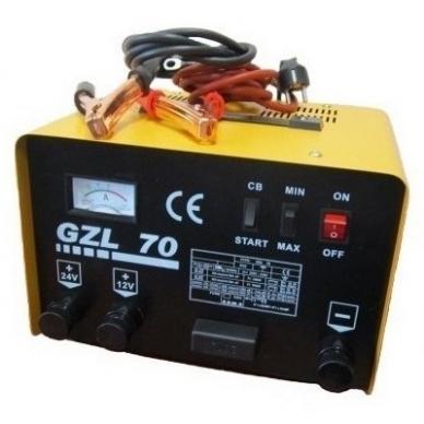 Akumuliatorių įkroviklis paleidėjas GZL70