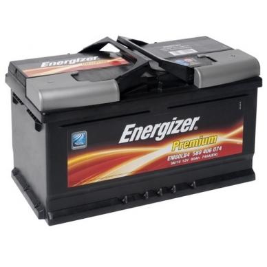 Akumuliatorius Energizer Premium EM80-LB4 80Ah 740A