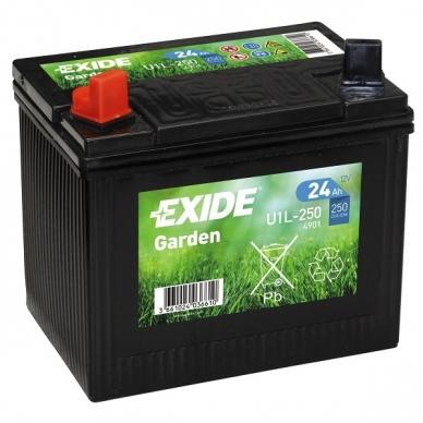 Akumuliatorius EXIDE GARDEN 12V 24Ah 250A AGM U1L-250 4901