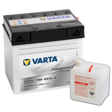 Akumuliatorius VARTA 12V 25Ah 300A Freshpack Y60-N24L-A