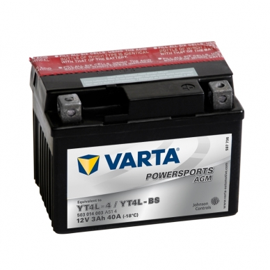 Akumuliatorius VARTA 12V 3Ah 40A AGM YT4L-BS