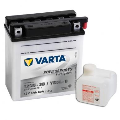 Akumuliatorius VARTA 12V 5Ah 60A Freshpack YB5L-B