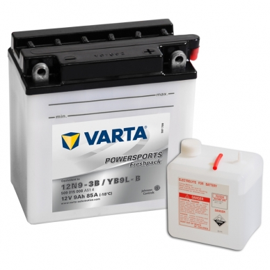 Akumuliatorius VARTA 12V 9Ah 85A Freshpack YB9L-B