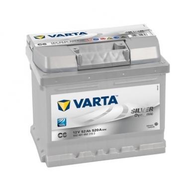 Akumuliatorius VARTA C6 52Ah 520A