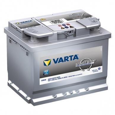 Akumuliatorius VARTA D53 60Ah 560A Start-Stop EFB