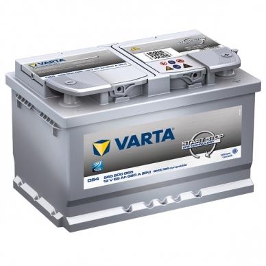 Akumuliatorius VARTA D54 65Ah 650A Start-Stop EFB