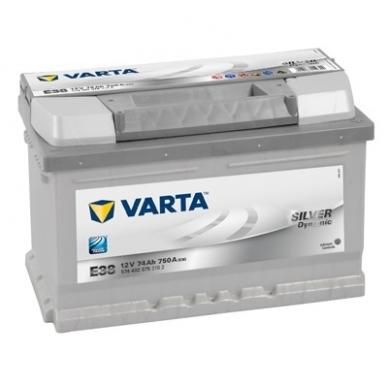 Akumuliatorius VARTA E38 74Ah 750A
