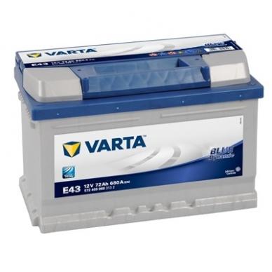 Akumuliatorius VARTA E43 72Ah 680A