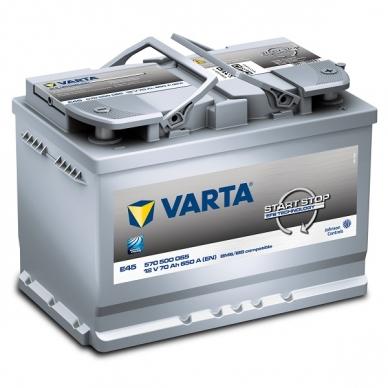 Akumuliatorius VARTA E45 70Ah 650A Start-Stop EFB