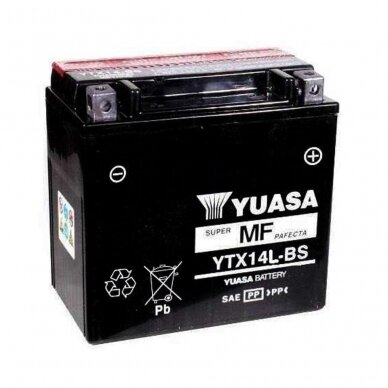 Akumuliatorius YUASA 12V 12Ah 200A YTX14L-BS
