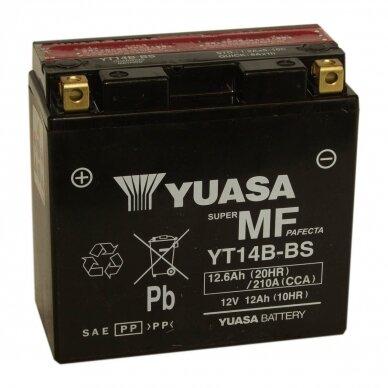 Akumuliatorius YUASA 12V 12Ah 210A YT14B-BS