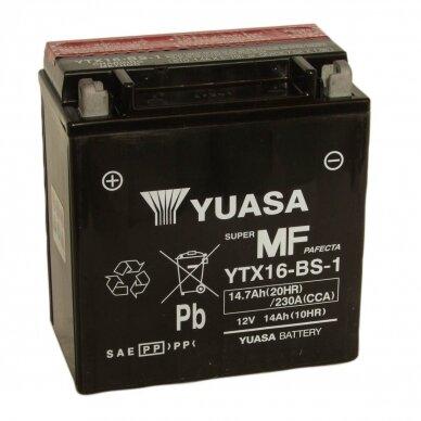 Akumuliatorius YUASA 12V 14Ah 230A YTX16-BS-1