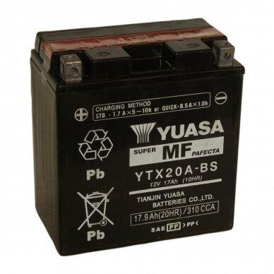 Akumuliatorius YUASA 12V 17Ah 270A YTX20A-BS