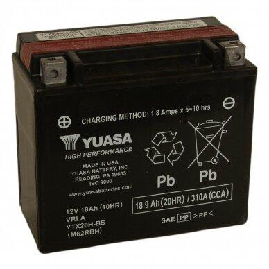 Akumuliatorius YUASA 12V 18Ah 310A YTX20H-BS