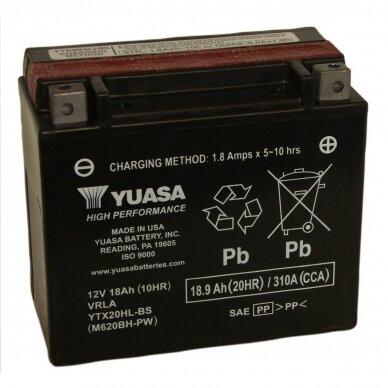 Akumuliatorius YUASA 12V 18Ah 310A YTX20HL-BS