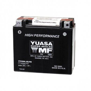Akumuliatorius YUASA 12V 18Ah 310A YTX20HL-BS-PW