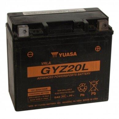 Akumuliatorius YUASA 12V 20Ah 270A GYZ20L