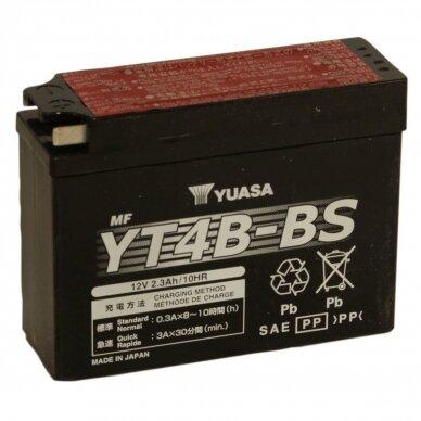 Akumuliatorius YUASA 12V 2.3Ah 40A YT4B-BS