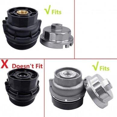 Alyvos filtro raktas 64.5mm 14 kampų TOYOTA LEXUS 4