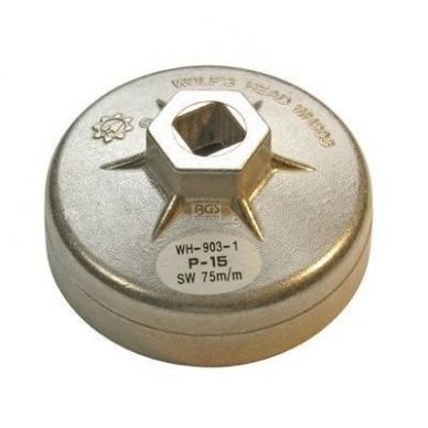Alyvos filtro raktas 75mm 15 kampų