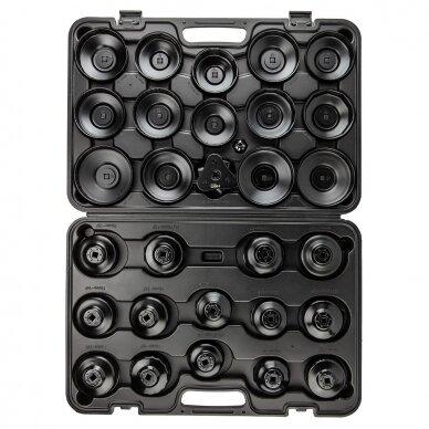 Alyvos filtrų raktų lėkštelių rinkinys 30 dalių