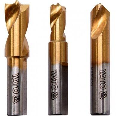Grąžtų metalui HSS COBALT kontaktiniams taškams nugręžti rinkinys 3 dalių 2
