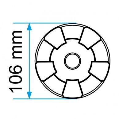 Guminis padas domkratui 106x27mm 3