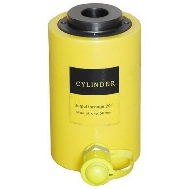 Hidraulinis cilindras su kiauryme 20T eiga 50mm