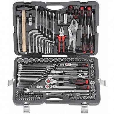 Įvairių įrankių rinkinys 142 dalių