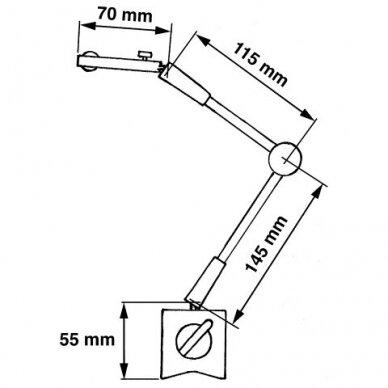 Magnetinis stovas bazė matavimo įrankiams 2