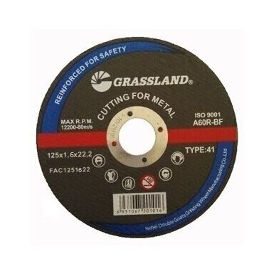 Metalo pjovimo diskas 125x1.6x22.2 TYPE41 10vnt