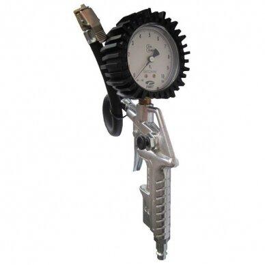 Pripūtimo pistoletas su manometru padangoms 10bar Pe