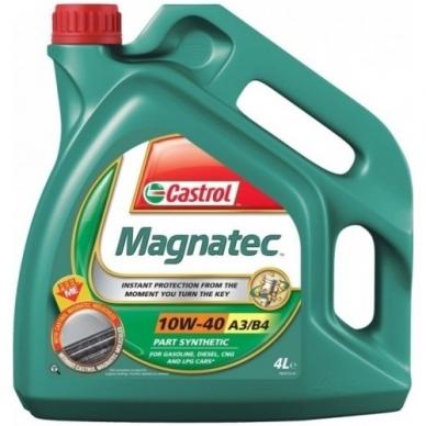 Pusiau sintetinė variklinė alyva Castrol 10W40 4L Magnatec