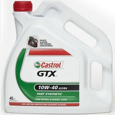 Pusiau sintetinė variklinė alyva Castrol 10W40 A3/B4 4L GTX
