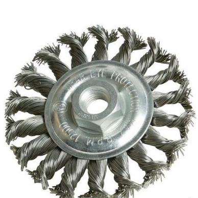 Šepetys vielinis disko tipo 125mm