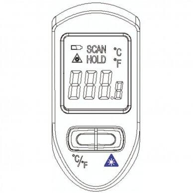 Skaitmeninis termometras nuo -20°C iki +500°C 5