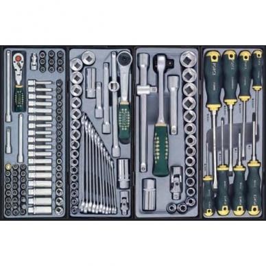Vežimėlis 5 stalčių su įrankiais 154 dalių 2