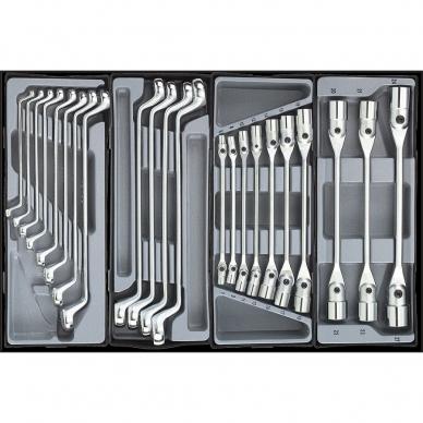 Vežimėlis 8 stalčių ir spintelė 5 stalčių su įrankiais 562 dalių 11