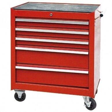 Vežimėlis įrankiams 5 stalčių